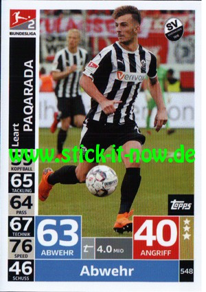 "Topps Match Attax Bundesliga 18/19 ""Action"" - Nr. 548"