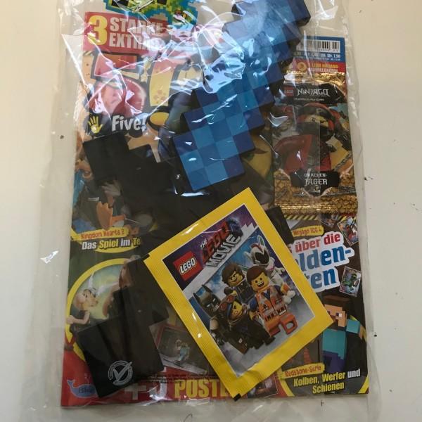 5! Five! Magazin Nr. 3/2019 (mit Ninjago Booster, Pixel-Schwert & Lego Movie Stickertüte)