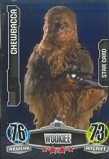 Force Attax - CHEWBACCA - Wookiee - STAR-CARD - Movie Collection