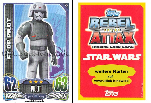 Rebel Attax - Serie 1 (2015) - AT-DP PILOT - Nr. 38