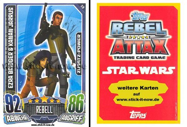Rebel Attax - Serie 1 (2015) - EZRA BRIDGER & KANAN JARRUS - Nr. 59