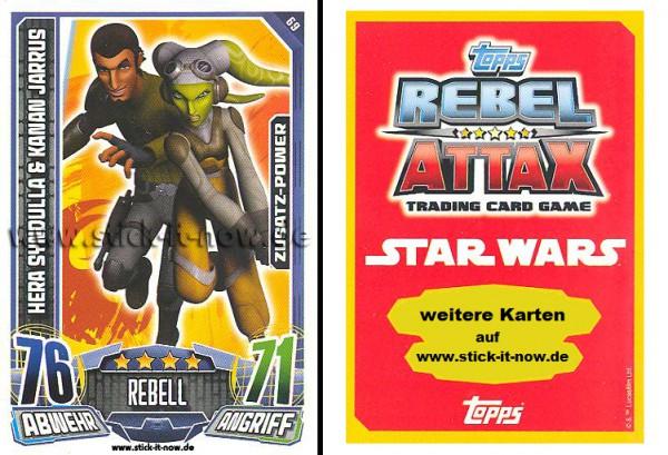 Rebel Attax - Serie 1 (2015) - HERA SYNDULLA & KANAN JARRUS - Nr. 69