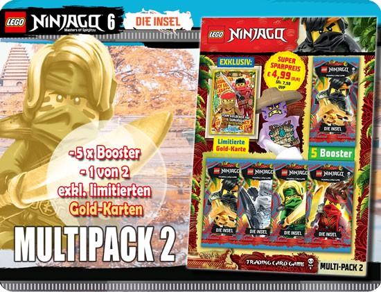 Lego Ninjago Trading Cards - SERIE 6 (2021) - Multipack 2a ( LE 18 )