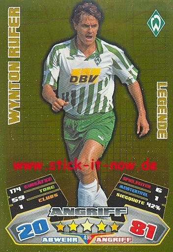Match Attax 12/13 EXTRA - Wynton Rufer - Werder Bremen - LEGENDE - Nr. 495