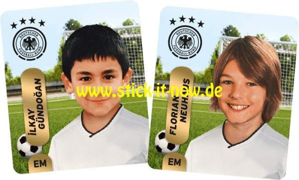 """Ferrero Team Sticker EM 2020 (2021) - """"Kids"""" Nr. 6 (Gündogan/Neuhaus)"""