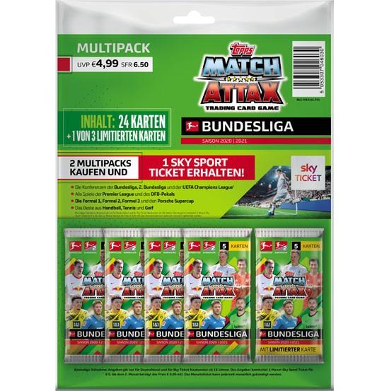 Topps Match Attax Bundesliga 2020/21 - Multipack ( 24 Karten + 1 von 3 Limitierte Karten )