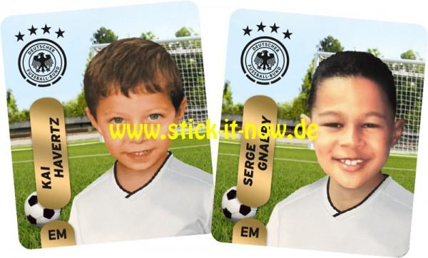 """Ferrero Team Sticker EM 2020 (2021) - """"Kids"""" Nr. 4 (Havertz/Gnabry)"""