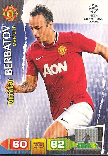 Dimitar Berbatov - Panini Adrenalyn XL CL 11/12 - Manchester United