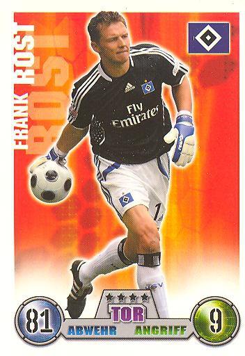 Frank Rost - Match Attax 08/09 - Hamburger SV