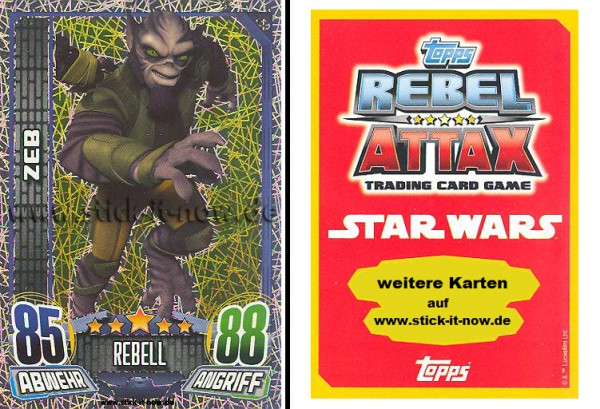 Rebel Attax - Serie 1 (2015) - ZEB - Nr. 159 ( Glitzer-Karte )