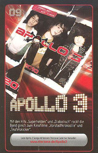 Starzone Sammelkarte - APOLLO 3 - Rewe - Nr. 09