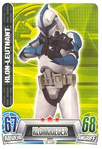 Force Attax Movie Collection - Serie 2 - KLON-LEUTNANT - Nr. 107