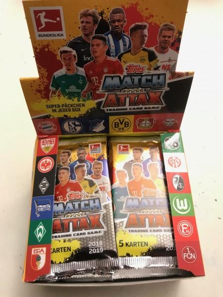 Topps Match Attax Bundesliga 18/19 - Display (50 Booster á 5 Karten)