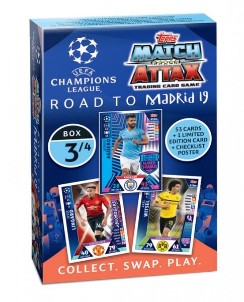"""Match Attax CL 18/19 """"Road to Madrid"""" - Deck 3 von 4"""