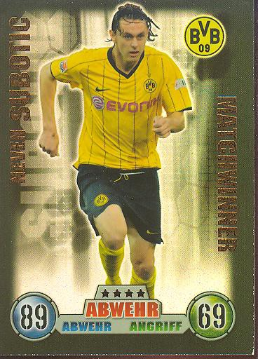 Neven Subotic - Match Attax 08/09 - Matchwinner - Bor. Dortmund
