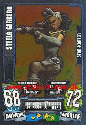 Force Attax - Star Wars - Clone Wars - Serie 4 - STEELA GERRERA - Star-Karte - Nr. 209