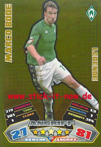 Match Attax 12/13 EXTRA - Marco Bode - Werder Bremen - LEGENDE - Nr. 496