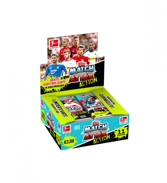 "Topps Match Attax Bundesliga 18/19 ""Action"" - Display ( 20 Booster )"