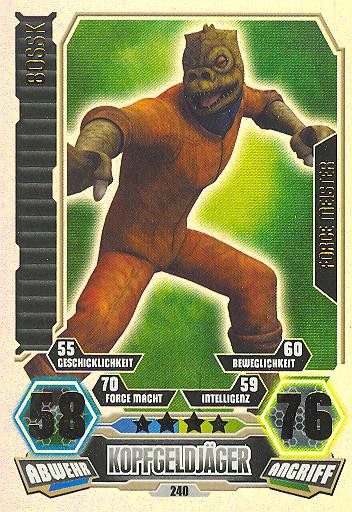 Force Attax - Serie 3 - FORCE-MEISTER - Bossk - Nr. 240