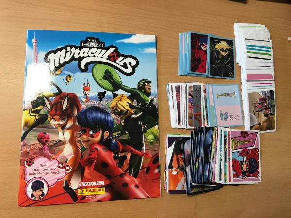 Panini - Miraculous Ladybug (2020) - komplettsatz ( alle Sticker & Karten + Album )