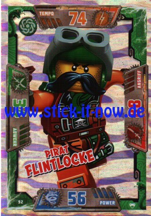Lego Ninjago Trading Cards - SERIE 2 (2017) - Nr. 92 (GLITZER)