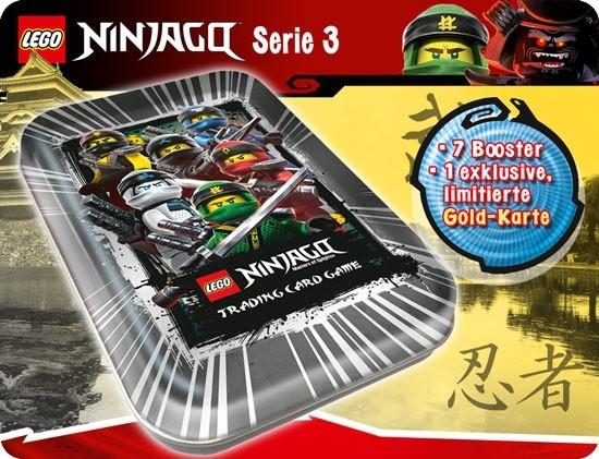 """Lego Ninjago Trading Cards - SERIE 3 (2018) - Mini Tin-Dose """"schwarz"""" ( LE 10 )"""