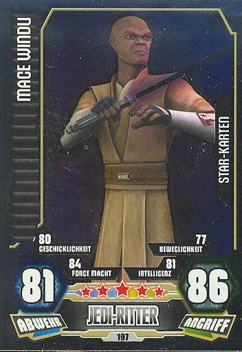 Force Attax - Serie 3 - STAR KARTE - Mace Windu - Nr. 197