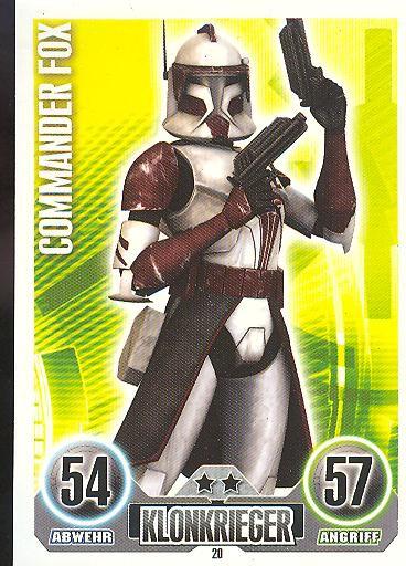 Force Attax - COMMANDER FOX - Klonkrieger - Die Republik - SERIE 1 (2010)