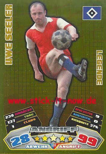 Match Attax 12/13 EXTRA - Uwe Seeler - Hamburger SV - LEGENDE - Nr. 506