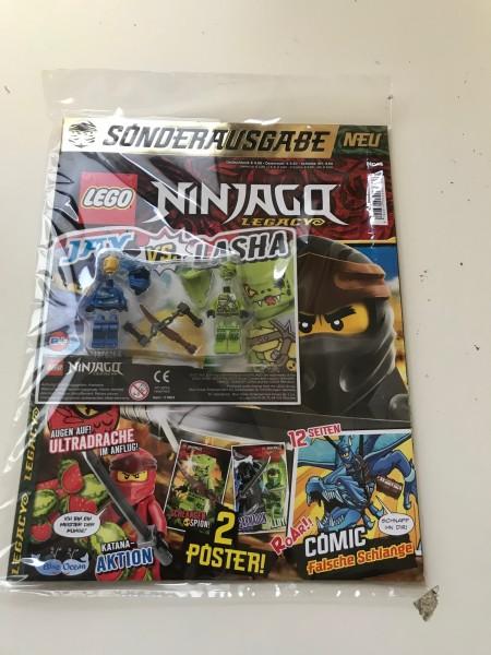 Lego Ninjago Legacy Magazin Nr. 4 ( Mit Lego Figuren Jay vs. Lasha )