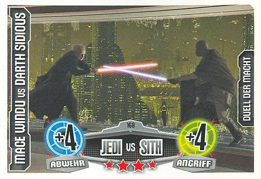 Force Attax - MACE WINDU vs DARTH SIDIOUS - Duell der Macht - Jedi vs Sith - Movie Collection