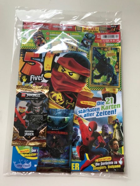 5! Five! Magazin Nr. 4/2019 (mit Ninjago und Dragons Booster + LE 3 von Dragons)