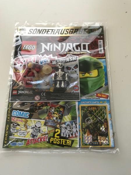 Lego Ninjago Legacy Magazin Nr. 3 ( Mit 2 Lego Figuren und LE24 )