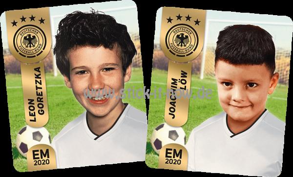 """Ferrero Team Sticker EM 2020 - """"Kids"""" Nr. 5 (Goretzka/Löw)"""