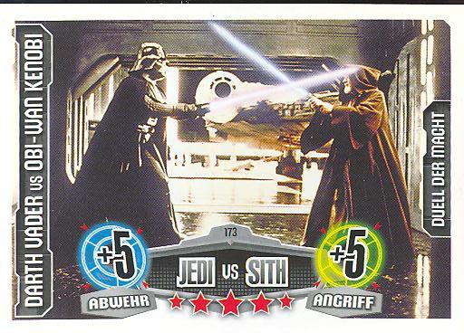 Force Attax - DARTH VADER vs OBI-WAN KENOBI - Jedi vs Sith - Duell der Macht - Movie Collection