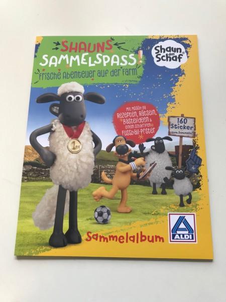 """Aldi Nord - Shaun das Schaf """"Sticker"""" - Stickeralbum"""