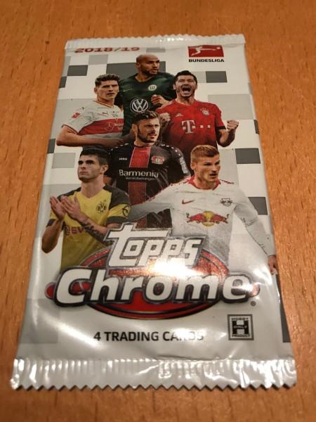 Bundesliga Chrome 18/19 - Booster ( 4 Karten )