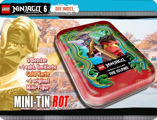 """Lego Ninjago Trading Cards - SERIE 6 (2021) - Mini Tin """"rot"""" ( LE 9 )"""