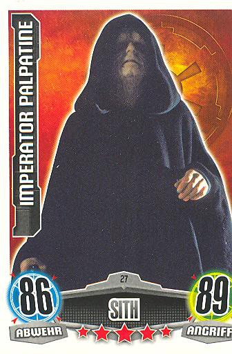 Force Attax - IMPERATOR PALPATINE - Sith - Imperium - Movie Collection