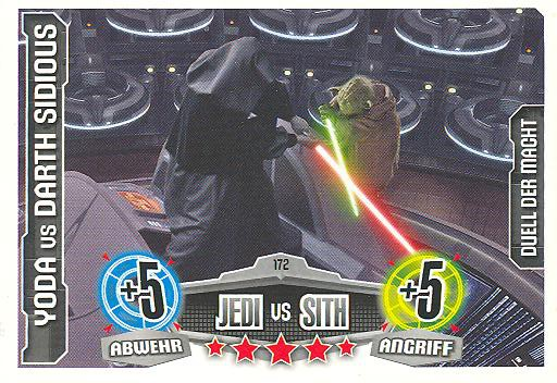 Force Attax - YODA vs DATH SIDIOUS - Duell der Macht - Jedi vs Sith - Movie Collection