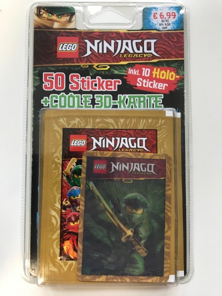 """Lego Ninjago Legacy """"Stickerserie"""" (2020) - Blister ( Lloyd )"""