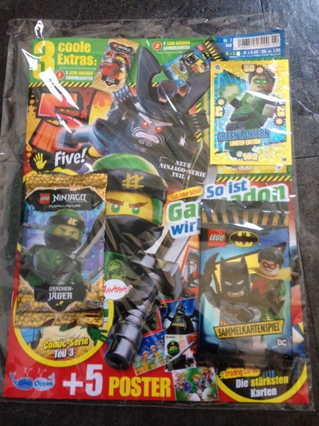 5! Five! Magazin Nr. 7/2019 (mit Batman Booster, Ninjago Booster + LE5 von Lego Batman)