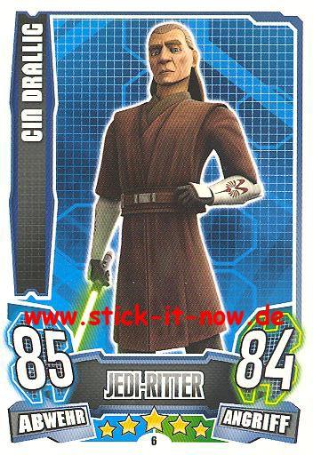 Force Attax - Star Wars - Clone Wars - Serie 4 - CIN DRALLIG - Nr. 6