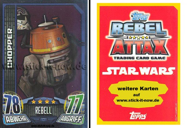 Rebel Attax - Serie 1 (2015) - CHOPPER - Nr. 144 ( Spiegelfolienkarte )