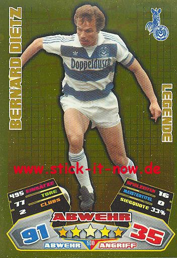 Match Attax 12/13 EXTRA - Bernard Dietz - MSV Duisburg - LEGENDE - Nr. 500