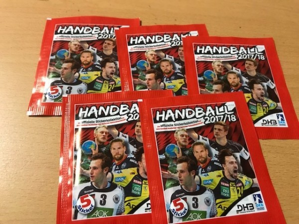 DKB Handball Bundesliga Sticker 17/18 - 5 Stickertüten