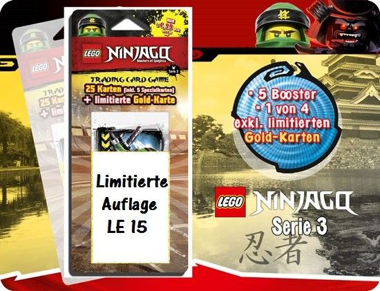 Lego Ninjago Trading Cards - SERIE 3 (2018) - Blister 4 ( LE 15 )