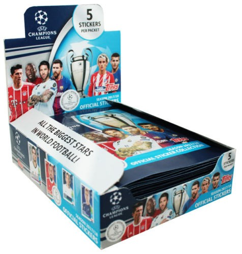 Champions League Sticker 2017/2018 - 1 Display ( 30 Tüten)