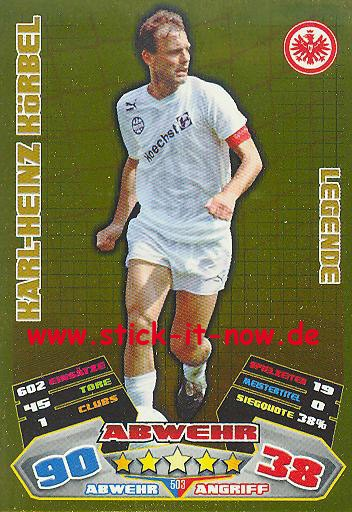 Match Attax 12/13 EXTRA - Karl-Heinz Körbel - Ein. Frankfurt - LEGENDE - Nr. 503