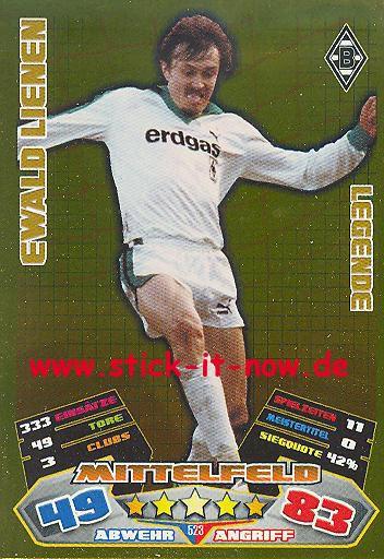Match Attax 12/13 EXTRA - Ewald Lienen - Bor. M'gladbach - LEGENDE - Nr. 523